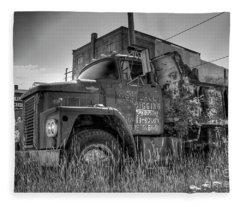 Dodge 800 Dump Truck Fleece Blanket