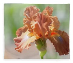 Dodge City Close Up. The Beauty Of Irises Fleece Blanket