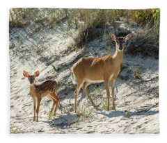 Doe And Fawn Fleece Blanket