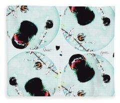 Dog Blossoms  Fleece Blanket
