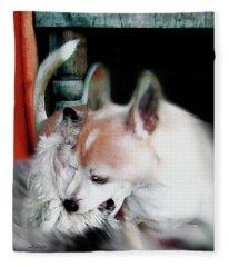 Dog Love Art 3 Fleece Blanket