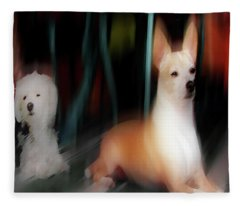 Dog Love Art 5 Fleece Blanket
