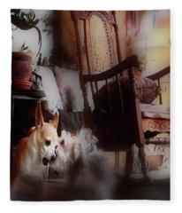 Dog Love Art  Fleece Blanket