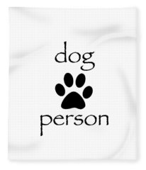 Dog Person Fleece Blanket