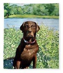 Dog Portrait #1 Fleece Blanket