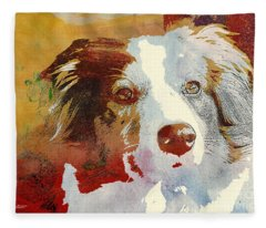 Dog Portrait Fleece Blanket