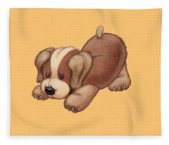 Dog Pounce Fleece Blanket
