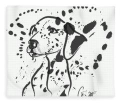 Dog Spot Fleece Blanket