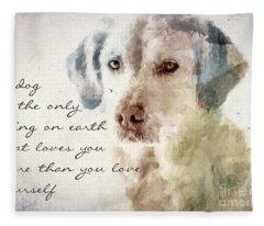 Dog True Love Fleece Blanket