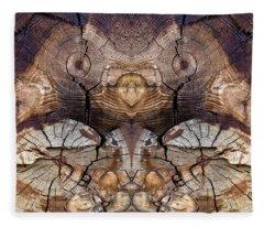 Dog-wood Owl Fleece Blanket