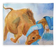 Dogging Fleece Blanket