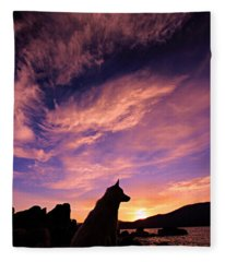 Dogs Dream Too Fleece Blanket