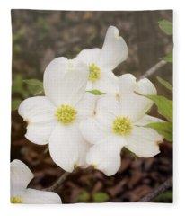Dogwood Blossom Trio Fleece Blanket