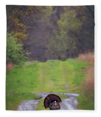 Doing The Turkey Strut Fleece Blanket