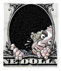 Dollar Fear Fleece Blanket