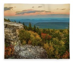 Dolly Sods Autumn Sundown Fleece Blanket