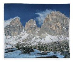 Dolomites 1 Fleece Blanket