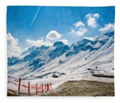 Dolomites 3 Fleece Blanket