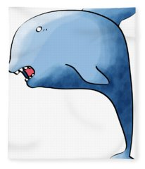 Dolphin Blue Fleece Blanket