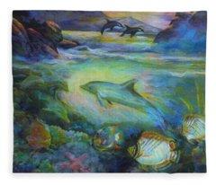 Dolphin Fantasy Fleece Blanket