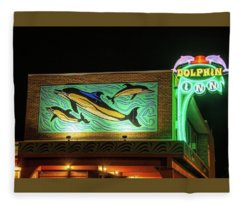 Dolphin Inn - Wildwood Nj Fleece Blanket