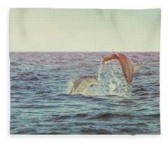Dolphin Play Fleece Blanket