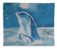 Dolphins Fleece Blanket