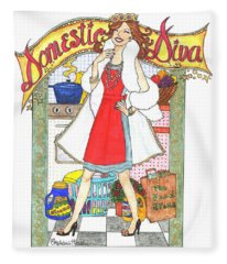 Domestic Diva Fleece Blanket