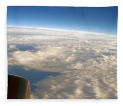 Domestic Flight At 35000 Feet Fleece Blanket