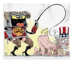 Dominating Gas Prices Fleece Blanket