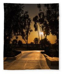 Dominguez Hills Sunset Fleece Blanket