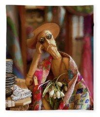 Don Quixote De La Mancha Fleece Blanket