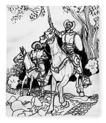 Don Quixote Fleece Blanket