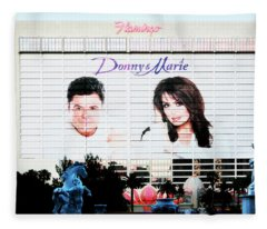 Donny And Marie Osmond Large Ad On Hotel Fleece Blanket