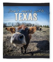 Don't Mess With Texas Fleece Blanket