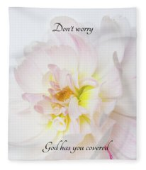Don't Worry Square Fleece Blanket