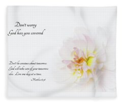 Don't Worry With Verse Fleece Blanket