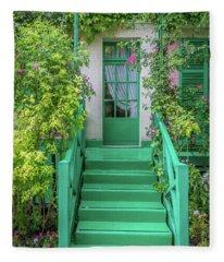 Door To Claude Monet's Home, Giverny 2 Fleece Blanket