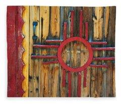 Door With Zia Fleece Blanket