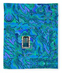 Doorway Into Multi-layers Of Water Art Collage Fleece Blanket