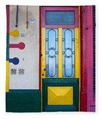 Doors Of San Telmo, Argentina Fleece Blanket