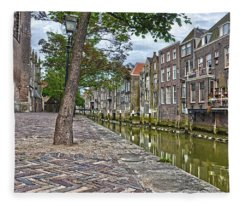 Dordrecht Behind The Church Fleece Blanket