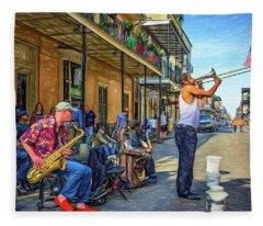 Doreen's Jazz New Orleans - Paint Fleece Blanket