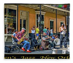 Doreen's Jazz New Orleans Triptych Fleece Blanket