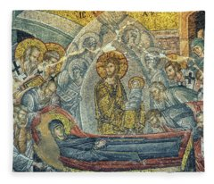 Dormition Of The Virgin Fleece Blanket