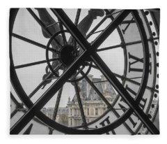D'orsay Clock Paris Fleece Blanket