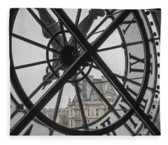 D'orsay Clock Paris Fleece Blanket