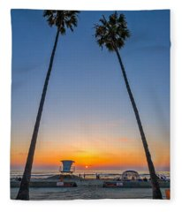 Dos Palms Fleece Blanket