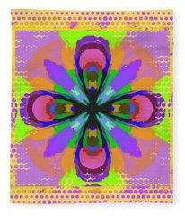 Dots A Flower Fleece Blanket