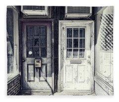 Double Doors Closed Fleece Blanket